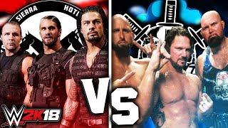 THE SHIELD VS THE CLUB    WWE 2K18    HD