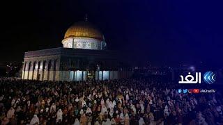 شاهد الفلسطينيون يصلون التراويح تحديا لإجراءات الاحتلال في القدس