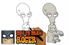 roger the alien from american dad drawing lesson