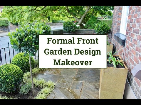 Formal Front Garden Design Makeover