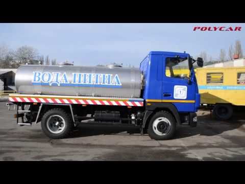 Автоцистерна для перевозки питьевой воды на базе МАЗ 4571.