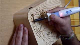 Pyrography (woodburning) Project 07