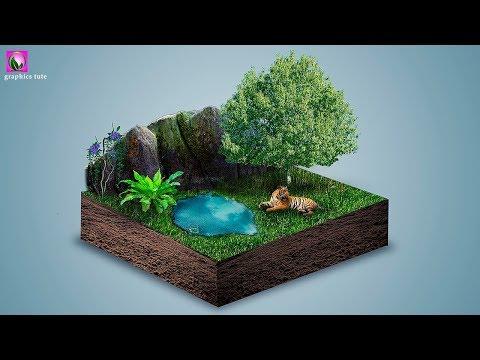 3D Land Photomanipulation In Photoshop – Photoshop Photomanipulation Tutorial – Photoshop CC