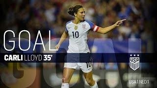 WNT vs. Netherlands: Carli Lloyd Goal - Sept. 18, 2016