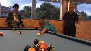 ( FAMILY ) KIDS BILLIARD BILYARD SNOOKER ANAK HOTEL CORE JOGJA YOGYAKARTA OPA MAMUZZ KAHAN & DAVE