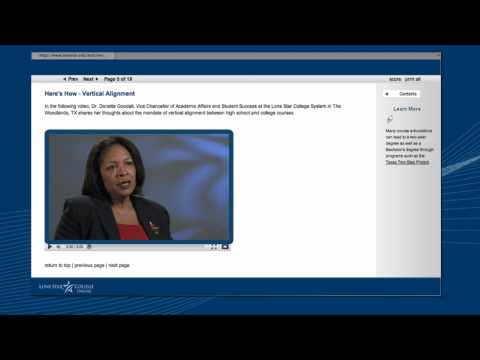 Faculty Development Modules - Lone Star College Online Video