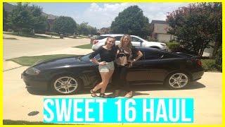 Sweet 16 Haul (What I got for my birthday) | Kenzie Elizabeth