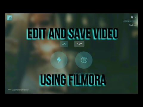 how to cut and save video using filmora