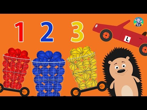 Learn Colors Numbers for Kids with Basketball Balls Spiky Hedgehog / Videos for Children / Kids Play