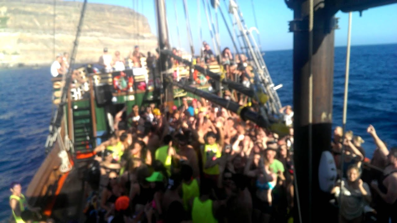 Pirate boat party Pacha Gran Canaria 19-07-13 - YouTube