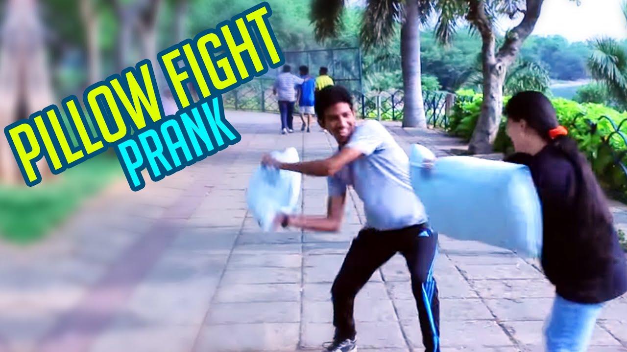Pillow Fight Prank- First Time In Hyderabad || Kantri Guyz