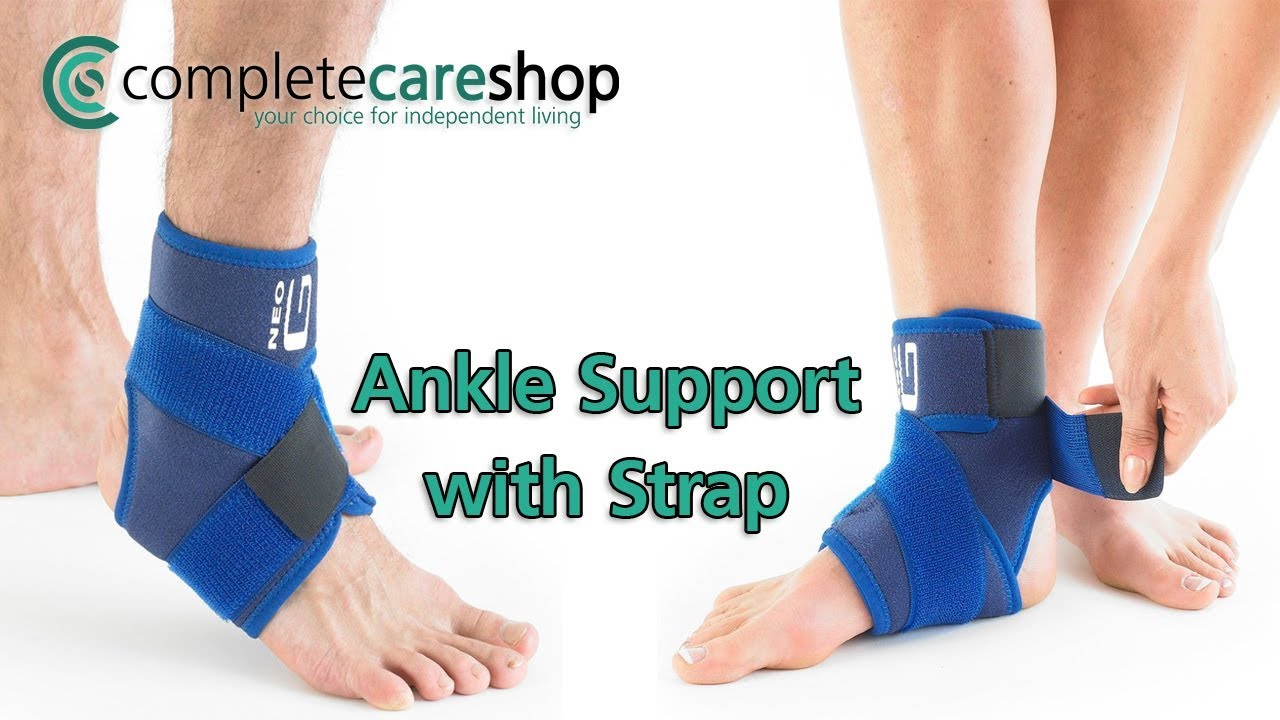 c543e6889e Neo G Ankle Support With Strap - How To Apply Guide - YouTube