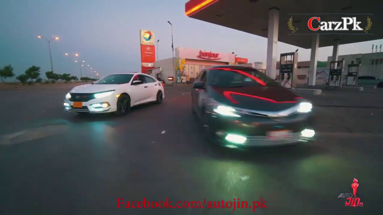 Honda Civic Vs Toyota Corolla Modified 2018 Youtube
