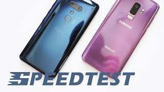 HTC U12 Plus vs Samsung Galaxy S9 Plus: speedtest