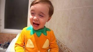 Pijama de Abóbora do Bebê Semi-Adulto - Música do Pato Qua Qua