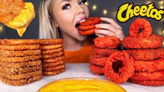 ASMR HOT CHEETOS ONION RINGS, CHEESY HASH BROWN, CRUNCHY EATING SOUNDS MUKBANG 먹방 *COOKING & EATING*