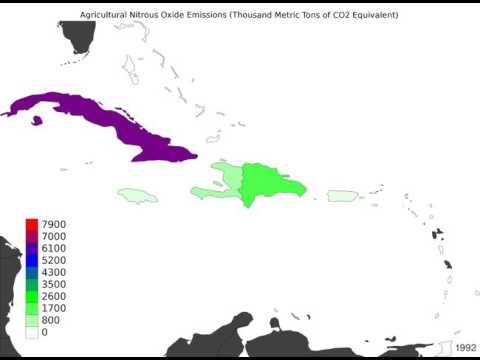 Caribbean - Agricultural Nitrous Oxide Emissions - Time Lapse