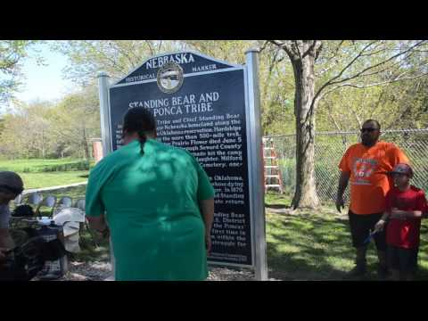 "Blessing of the ""Standing Bear and the Ponca Tribe"" Nebraska Historical Marker"