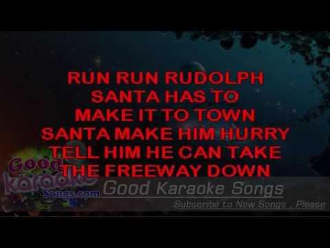 Run Rudolph Run - Chuck Berry ( Karaoke Lyrics )