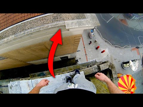 POV Parkour Rooftop Climb in Southampton, UK with James Kingston