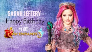 "Sarah Jeffery - Happy Birthday | Lyrics (With Added Sound FX) (From ""Descendants 3"")"