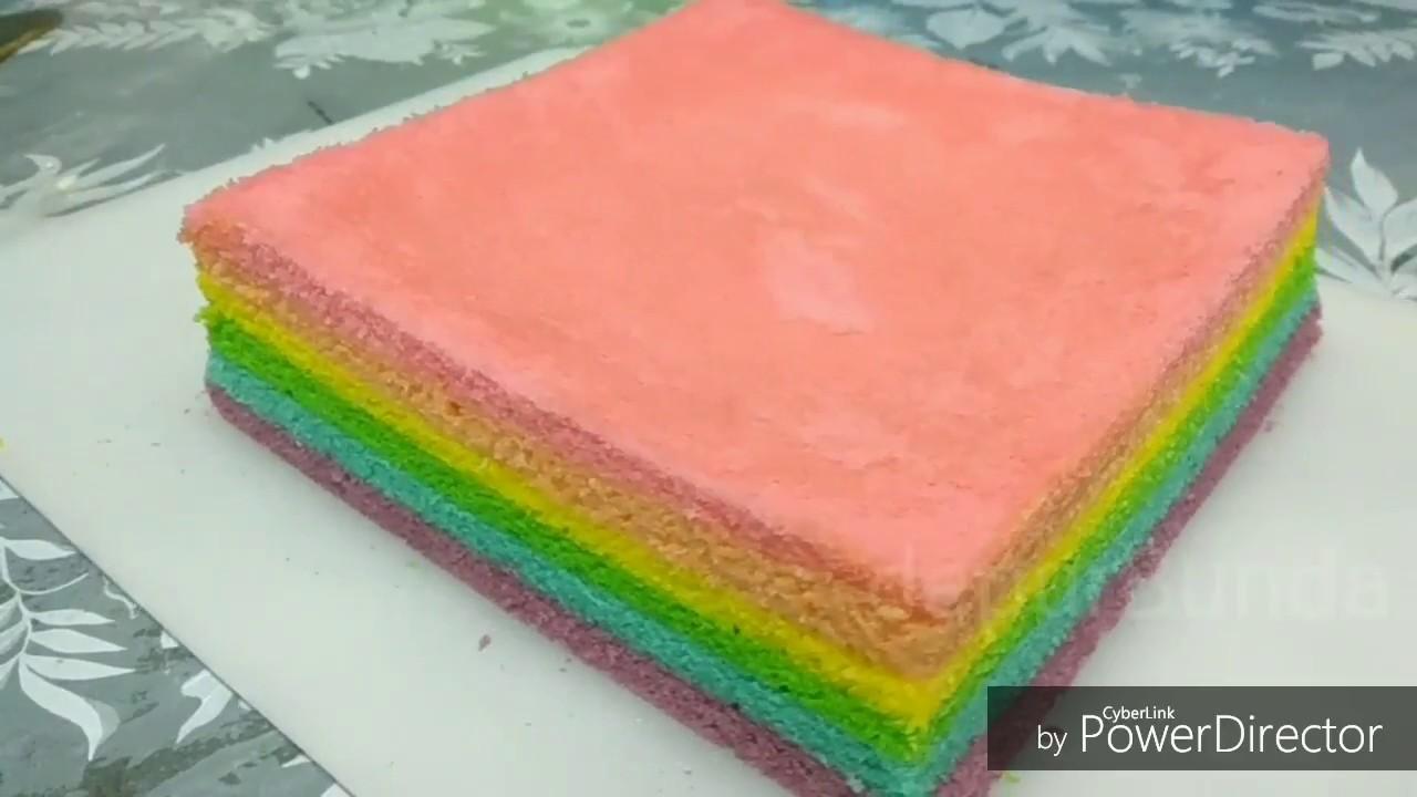 Resep Rainbow Cake Kukus Istimewa: Resep Rainbow Cake Kukus Mudah Anti Gagal
