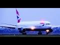 BRITISH AIRWAYS B767 (G-BZHB) Early Morning Landing @ Amsterdam Schiphol Airport
