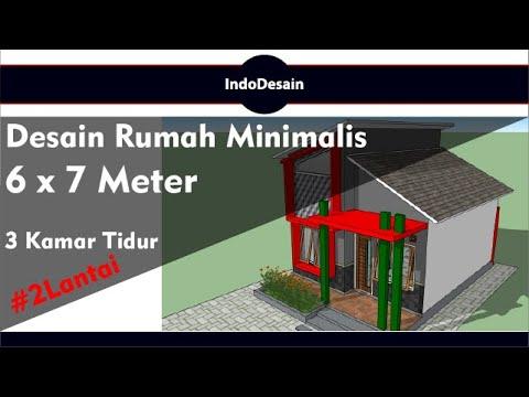 desain rumah minimalis 6x7 meter 2 lantai   3 kamar tidur