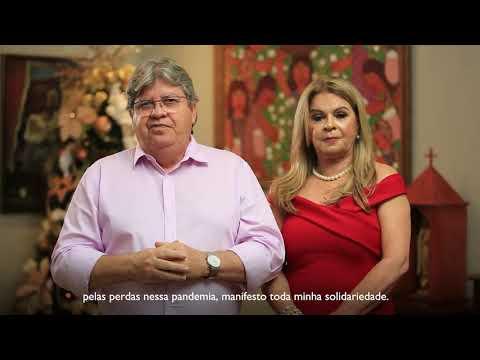 O governador João Azevêdo divulga mensagem de boas festas aos paraibanos