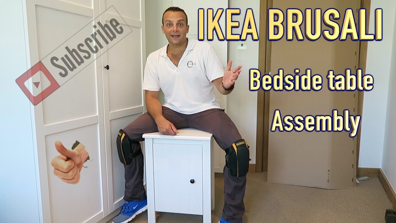 Credenza Ikea Brusali : Ikea brusali bedside table assembly youtube