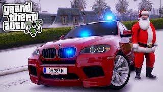 Der Weihnachtsmann bei der POLIZEI! 😱 - GTA 5 Polizei Mod