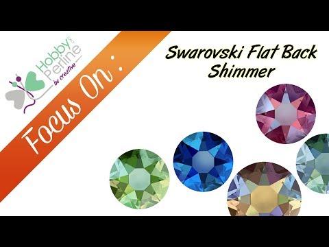 Swarovski Flat Back Shimmer | FOCUS ON - HobbyPerline.com