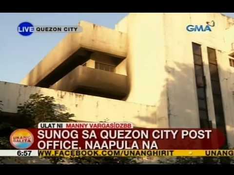 UB: Sunog sa Quezon City Post Office, naapula na