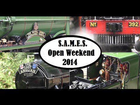 "SAMES (Sale Area Model Engineering Society) Open Weekend 2014 (Live Steam 3 1/2"", 5"" inch Loco)"