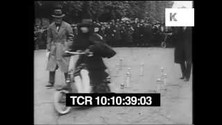 Women Ride 1920s Early Scooters, Electric Bicycles, Gadgets, Archive Footage