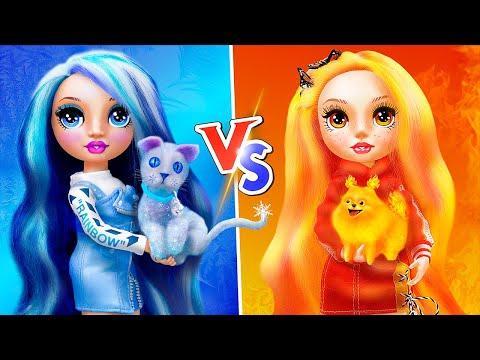 Thử Thách Nóng vs Lạnh / 12 Mẹo Tự Làm Đồ Thủ Công Cho Barbie
