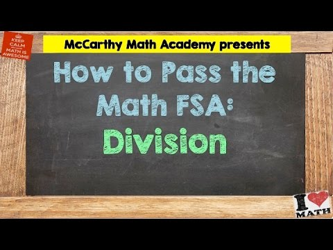 How to Pass the Math FSA - Division (3rd)
