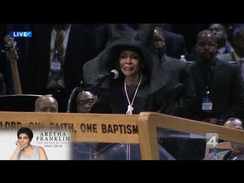 Cicely Tyson speaks at Aretha Franklin's funeral