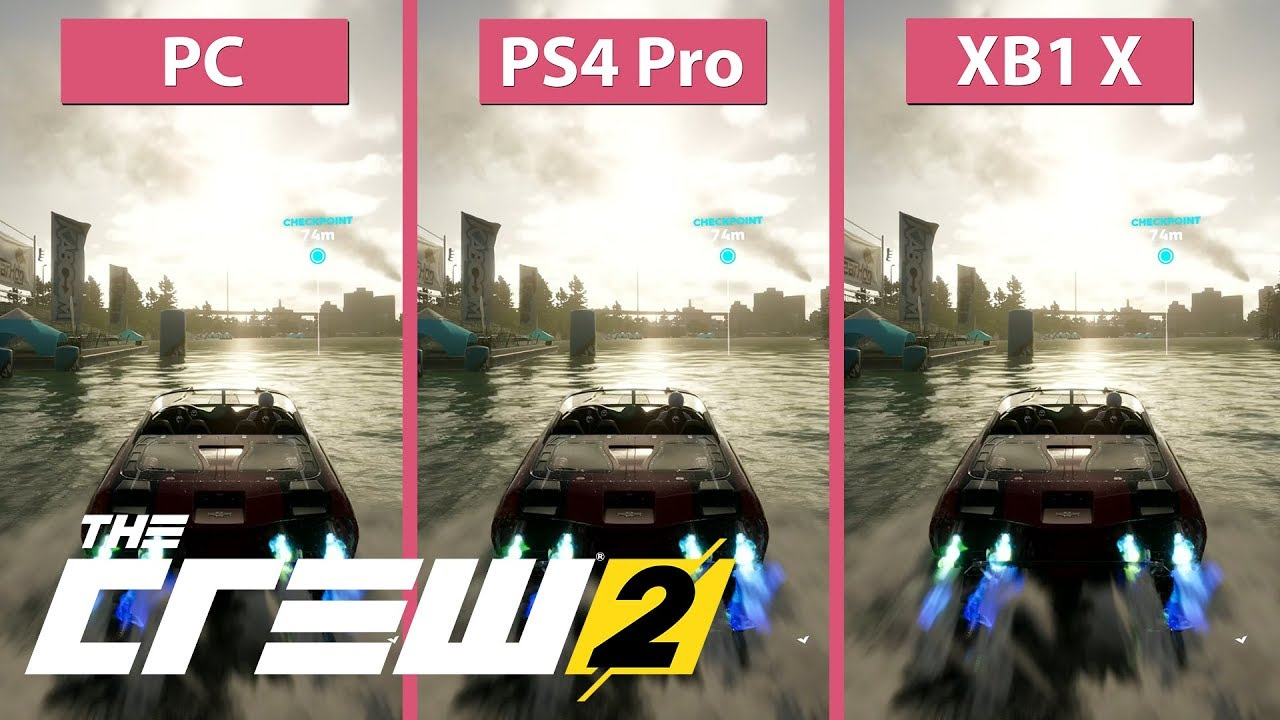 [4K] The Crew 2 – PC Max vs  PS4 Pro vs  Xbox One X Graphics Comparison  Open Beta
