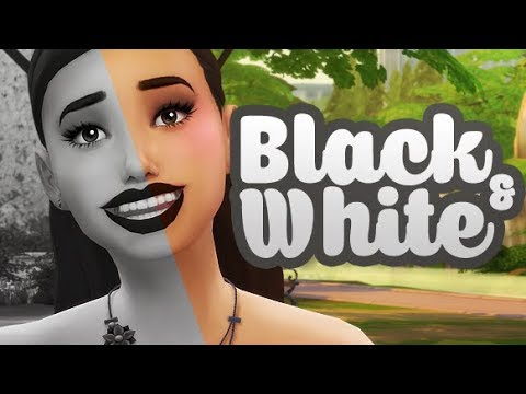 BLACK AND WHITE CHALLENGE 🖤 | THE SIMS 4 / CAS CHALLENGE