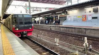 【名鉄3300系+3100系】1597レ普通犬山行き 3303F+3120F 6両 金山発車シーン