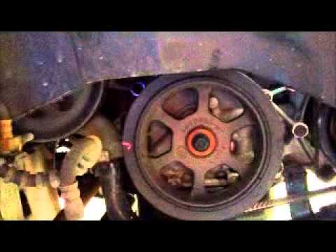 Serpentine belt noise - A/C compressor clutch broken