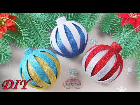 🎄 НОВОГОДНИЕ ИГРУШКИ из фоамирана 🎄 Christmas Ornamets DIY