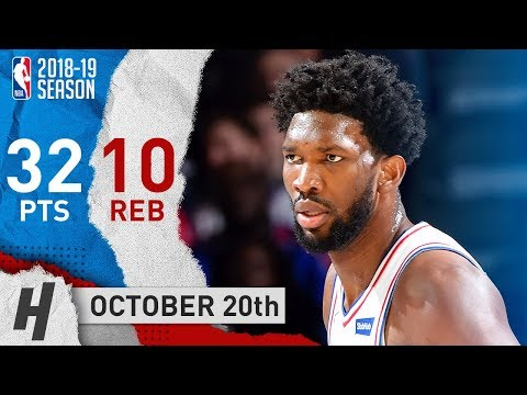 Joel Embiid Full Highlights 76ers vs Magic 2018.10.20 - 32 Points, 10 Reb, BEAST!