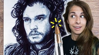 JON SNOW vs PENNA a SFERA - La Sfida! 🐸 Fraffrog GAME OF THRONES