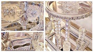Dollar Tree Glam Mirror Decor Stands   DIY Home Decor Ideas