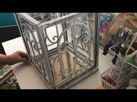 FARMHOUSE DECOR DIY || DOLLAR TREE DIY || Multipurpose Rustic Wedding Card Box, Lantern, Terrarium