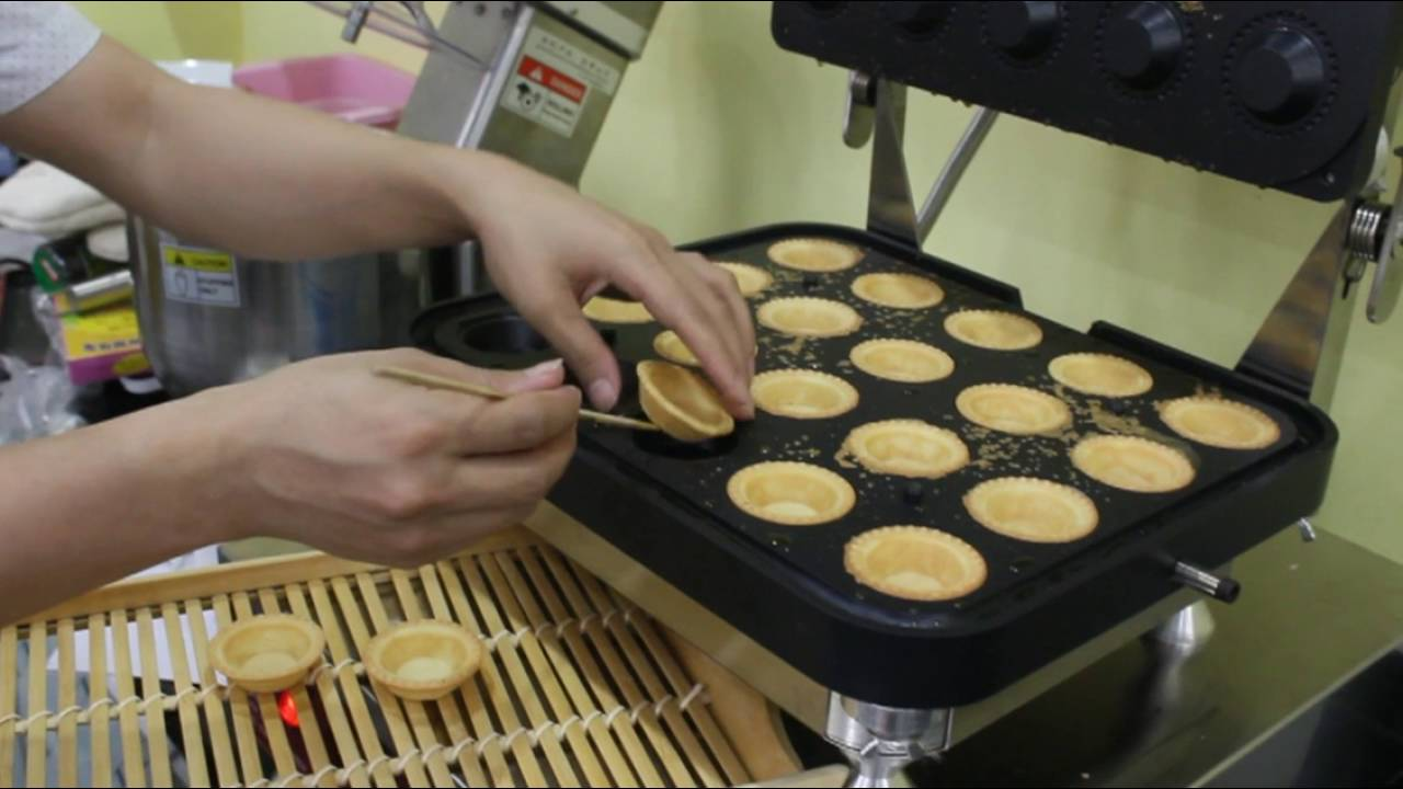 waffle egg tart shell maker machine youtube