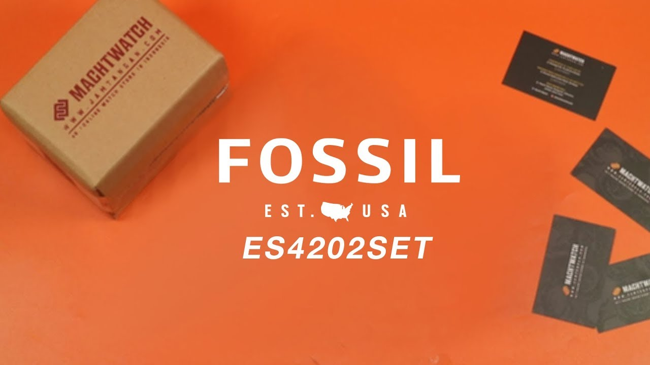 Whats Inside The Box Fossil ES4202SET Jacqueline 3Hand Date