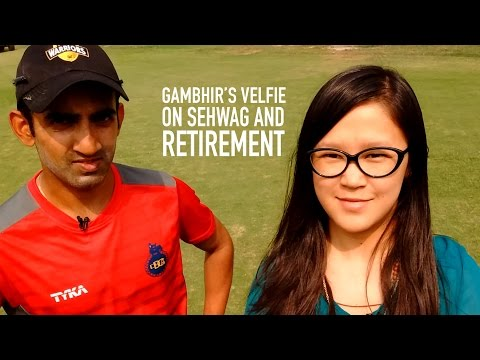 Gautam Gambhir's Velfie on Sehwag & Retirement